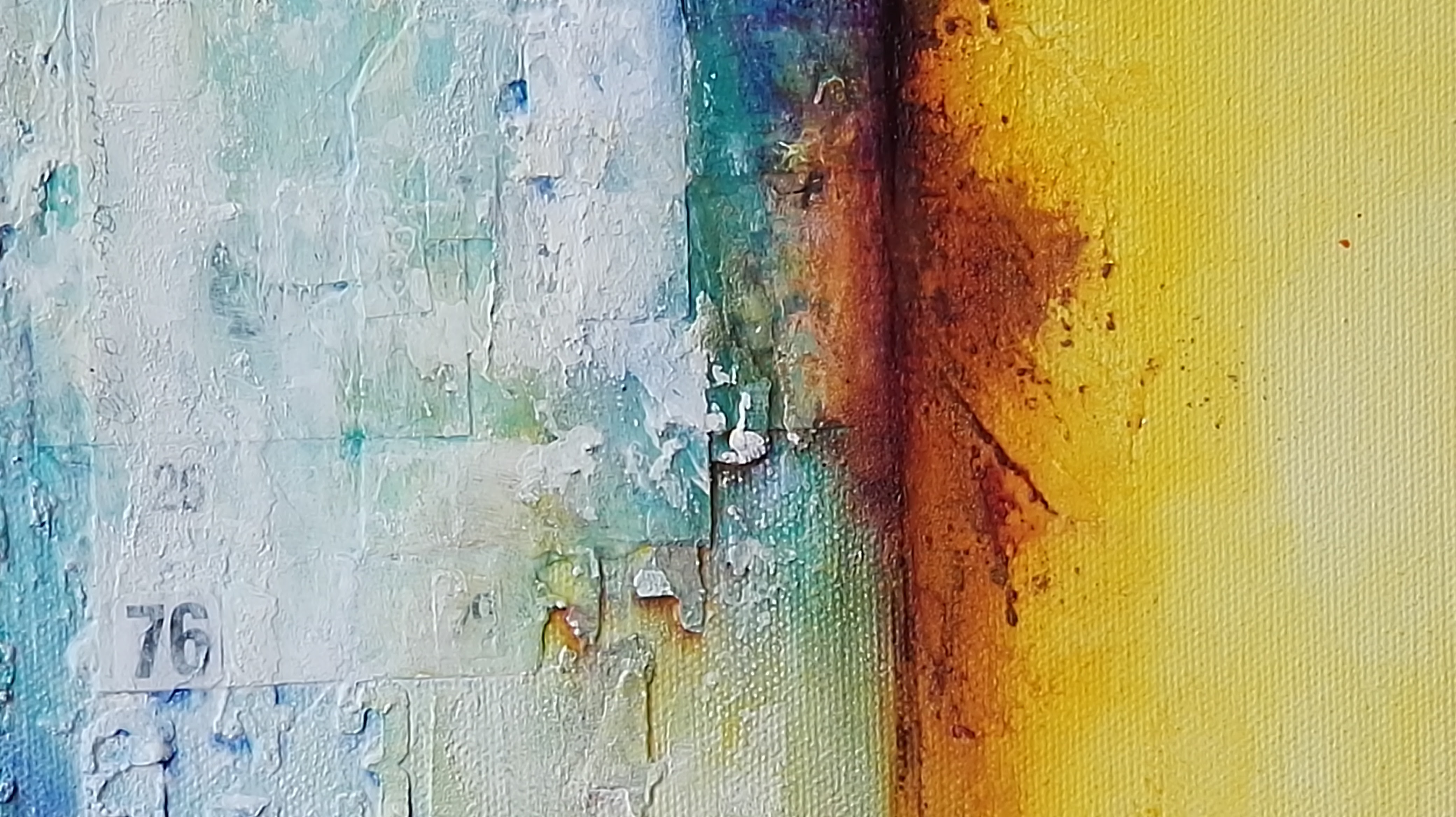 mixed media abstract by Kore Sage