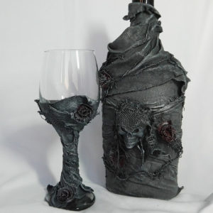 Powertex Bottle and Goblet