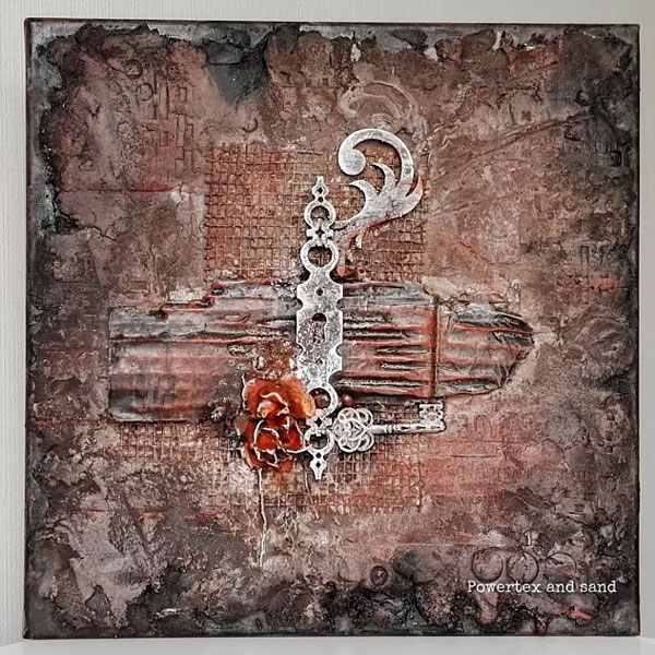 Powertex mixed media canvas by Kore Sage