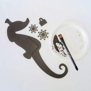 Powertex seahorse in bronze Kore Sage