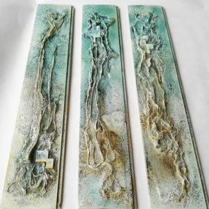 Powertex triptych with Ivory