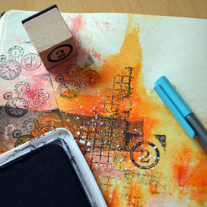 5 minute art journaling