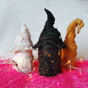 Powertex fairy houses Ivory by Kore Sage