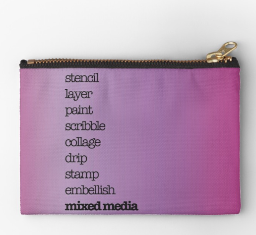 Purple Zip Pouch by Kore Sage
