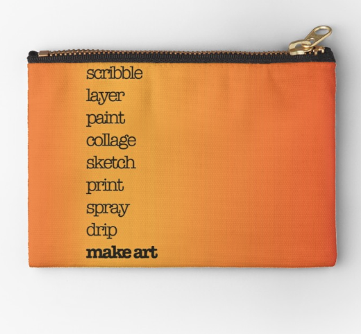 Orange Zip Pouch by Kore Sage