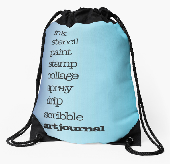 Blue Drawstring Bag by Kore Sage