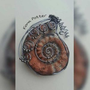 Powertex Fossil Jewellery by Fiona Potter