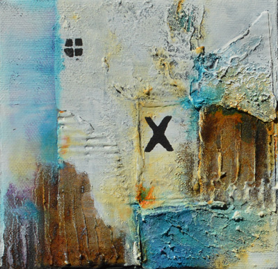 Powertex Mixed Media Painting by Kore Sage