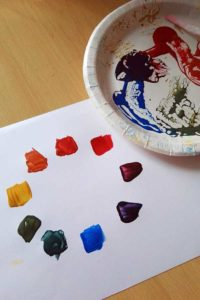 Mixing colours with Powertex