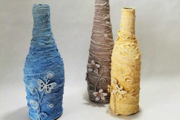 Powertex pastel bottle vases by Kore Sage