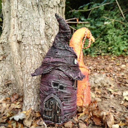 Fairy house from old jar with Powertex by Kore Sage