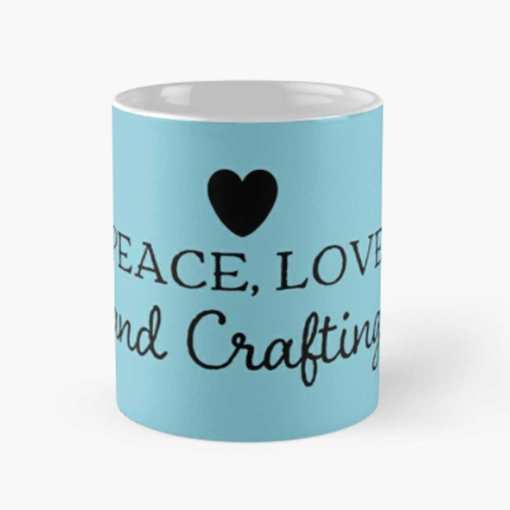 Peace-love-and-crafting-mug