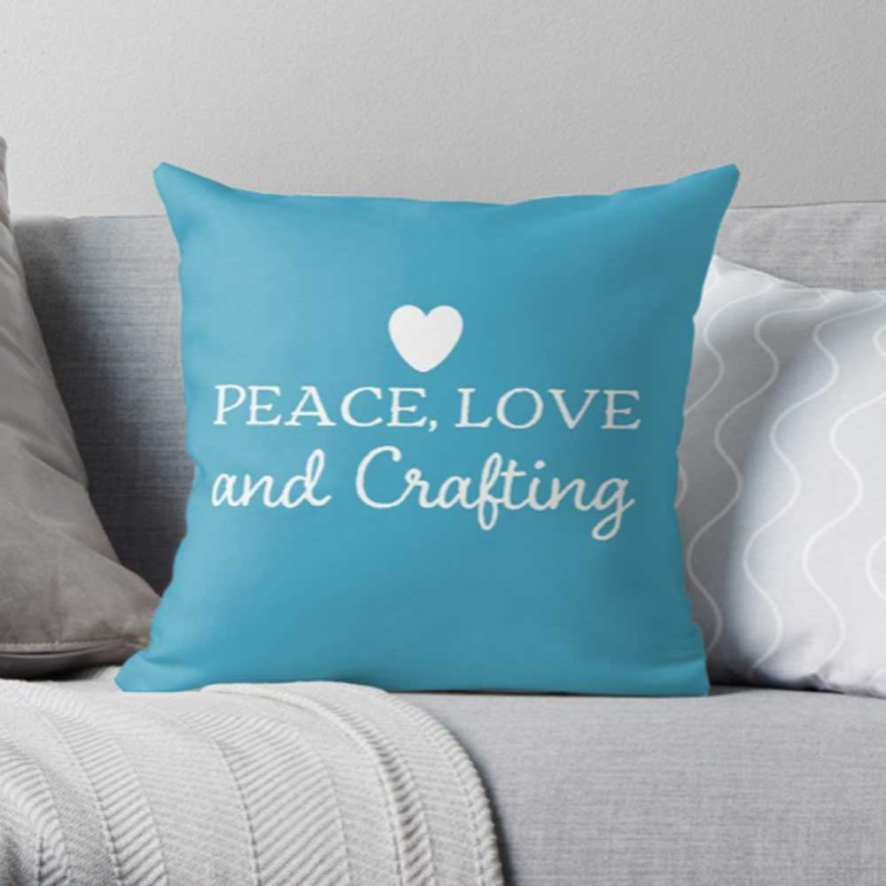Peace-love-and-crafting-pillow