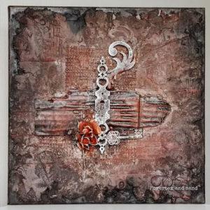 Powertex canvas art by Kore Sage