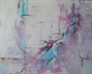 Powertex and mixed media canvas, by Kore Sage