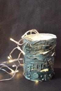 Freestanding Powertex lamp by Kore Sage