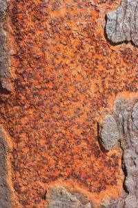Photo of Rusty texture on pole to inspire art