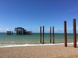 Photo of West Pier to inspire my paintings