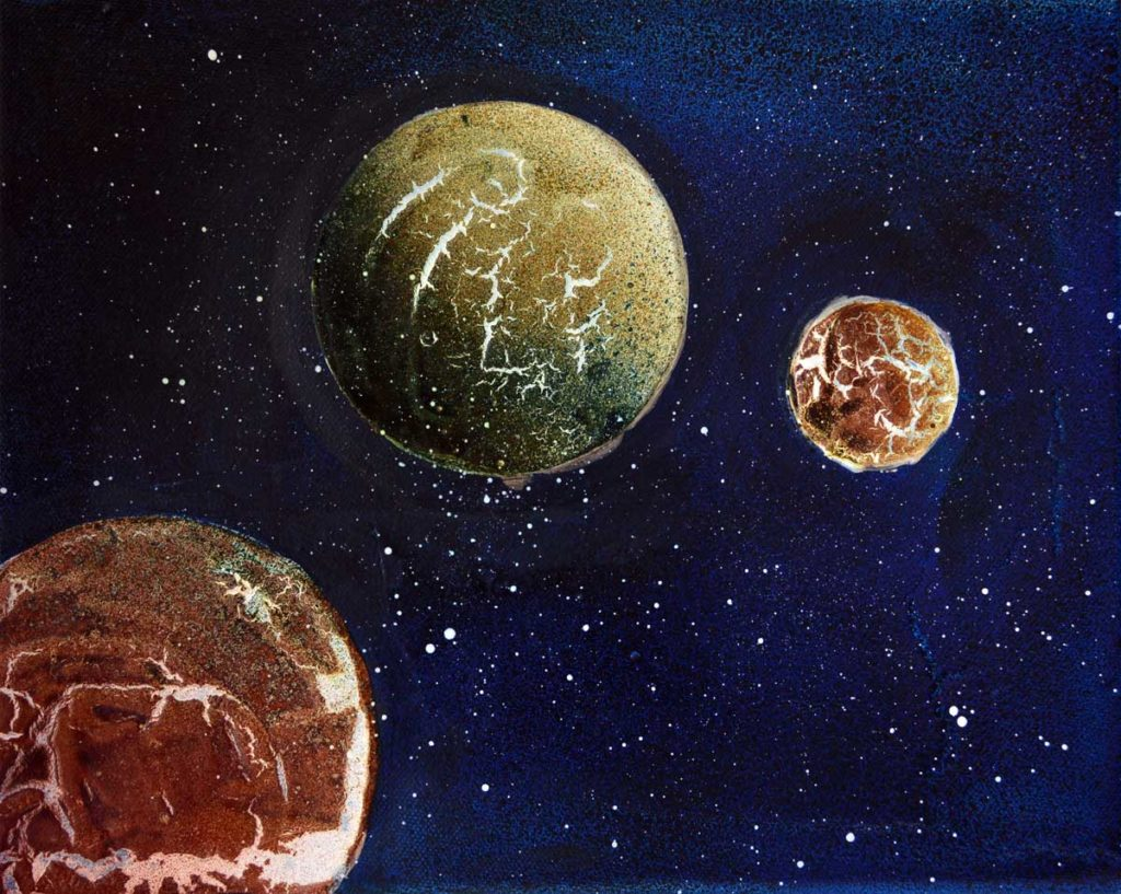 Powertex planets with Bister, Art by Kore Sage