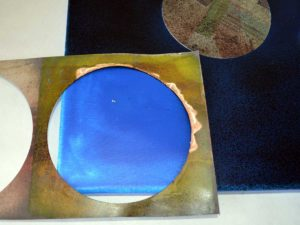 Use Stencils to apply circles of Ivory Powertex