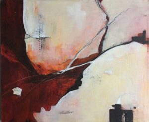 Fractured, Mixed media painting Latest artwork by Kore Sage Art