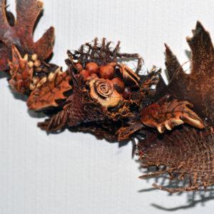 Autumn wreath with Powertex