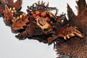 Autumn wreath with Powertex