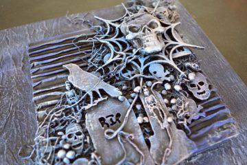 Powertex mixed media art by Kore Sage