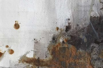 Black bister and rust Powertex art series header