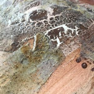 Using Rusty Powder for a mixed media rust layer